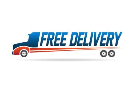Illustration pour Free delivery truck image  - image libre de droit