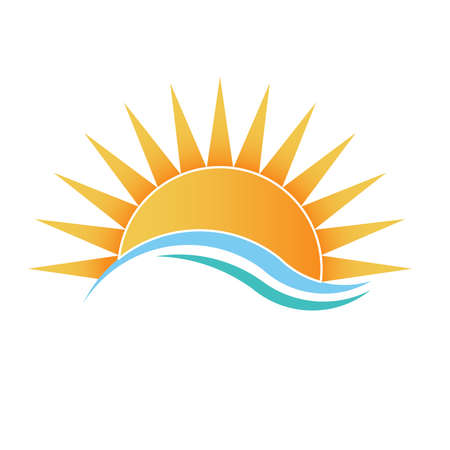 Illustration for Sunshine with waves - Royalty Free Image