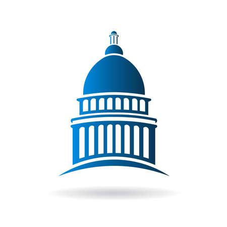 Illustration pour Vector Capitol building icon - image libre de droit