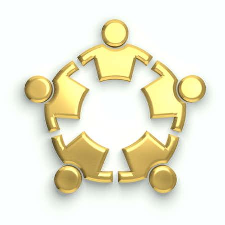 People logo. Golden circle