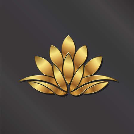 Ilustración de Luxury Gold Lotus plant image. - Imagen libre de derechos