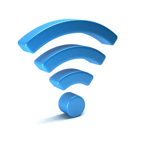 Photo for Wireless wifi 3D render isolated - Royalty Free Image