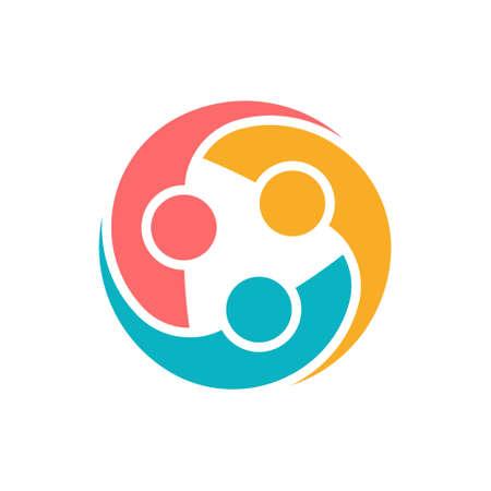 Illustration pour People Protection Group Logo. Vector graphic design illustration - image libre de droit