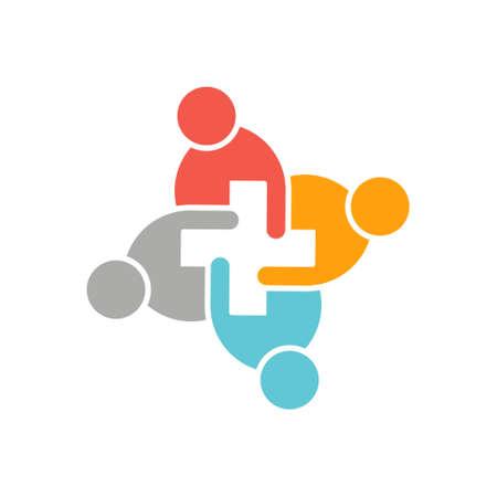Illustration pour Health Care People Logo - image libre de droit