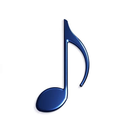 Photo for Quaver or eighth music / musical note flat icon for Icon. 3D Rendering Illustration - Royalty Free Image