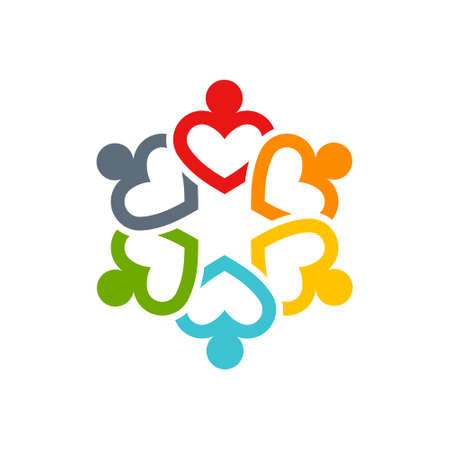Ilustración de Teamwork icon isolated for web icon design - Imagen libre de derechos