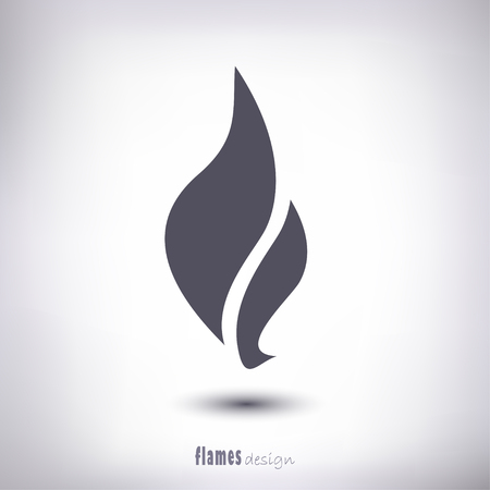 Illustration for Design flame as a symbol of a shadow on a gray background - Royalty Free Image