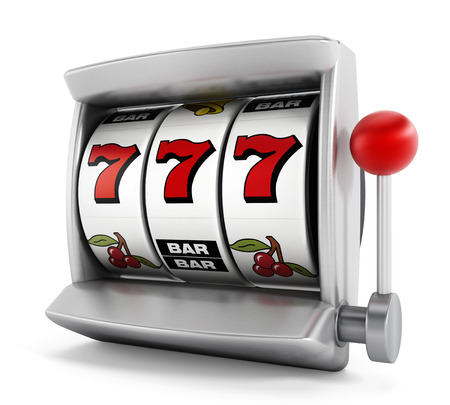 Photo pour Slot machine with three seven - image libre de droit