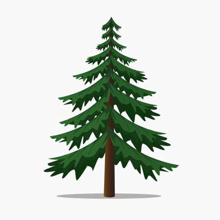 Illustration pour Pine Trees Vector Illustration.isolated Fir and Coniferous Tree. - image libre de droit