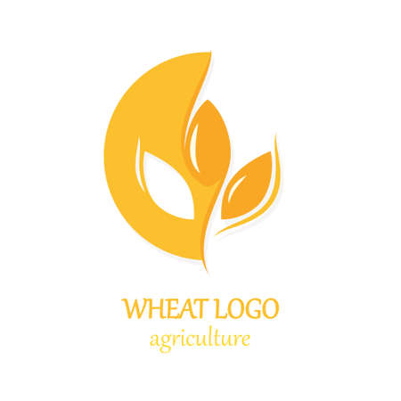 Illustration for Agriculture Wheat Logo Icon Design Template Illustration - Royalty Free Image
