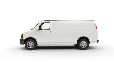 Photo for White Van Side View - Royalty Free Image