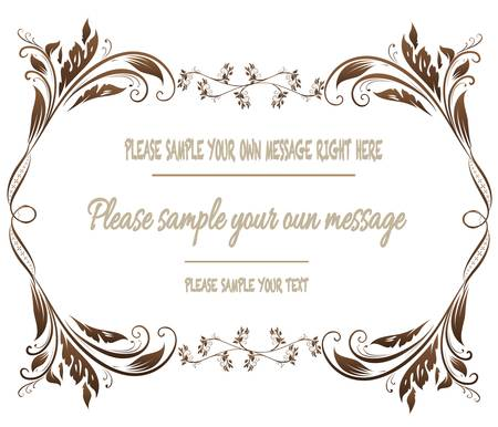 Illustration pour Vector vintage frame on background - image libre de droit