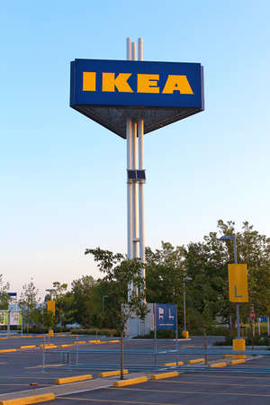 Vancouver, British Columbia, Canada - July 11, 2012 - Ikea Freestanding Sign.