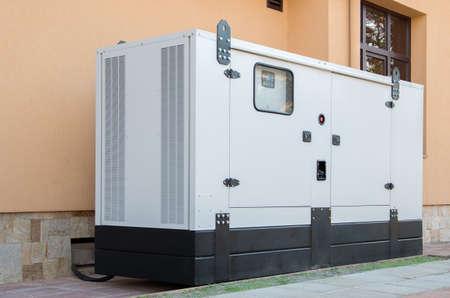 Photo pour Generator for emergency electric power. - image libre de droit