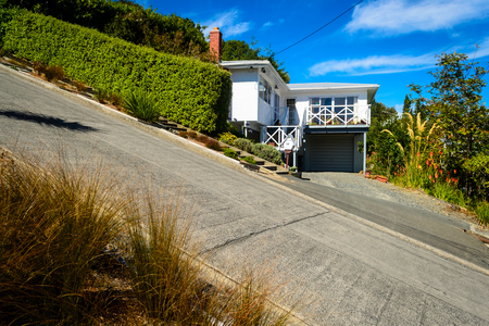 Photo pour Baldwin street - the steepest street in the world, Dunedin, New Zealand - image libre de droit
