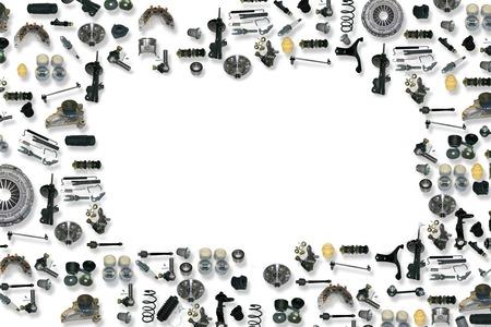 Foto de Spare parts car on the white background set - Imagen libre de derechos