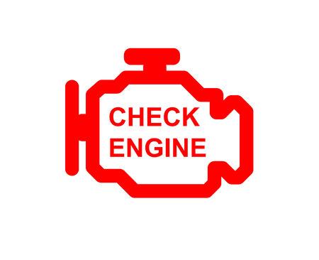 Illustration pour Malfunction or check engine car symbol, dash board close up - image libre de droit