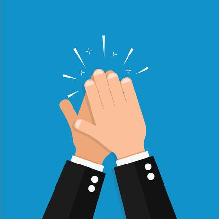 Illustration pour A hand clap vector success illustration acclaim icon - image libre de droit
