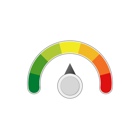 Illustrazione per satisfaction  level measure scale meter vector meter - Immagini Royalty Free
