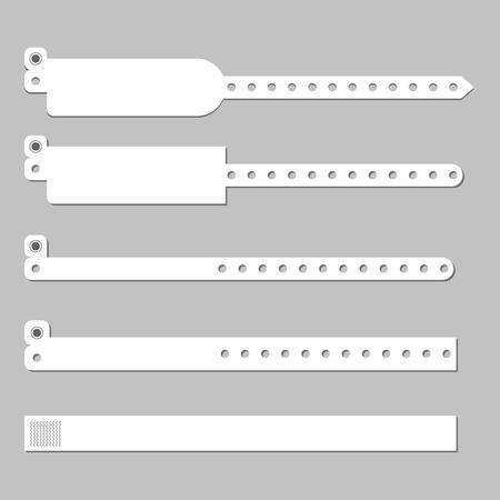 Illustration pour Wristband bracelet vector template . Wristband hospital patient wristlet - image libre de droit