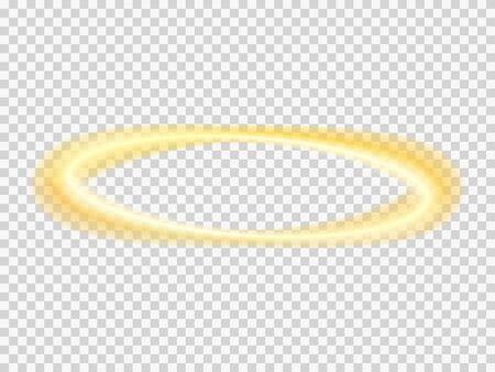 Illustration pour Halo angel vector transparent nimbus . Saint ring . - image libre de droit
