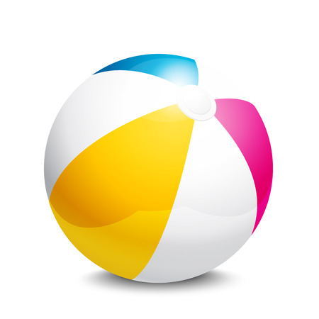 Illustration for beach ball - Royalty Free Image