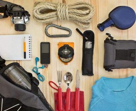 Foto de travel kit modern traveler scout - Imagen libre de derechos