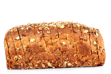 Photo pour multi grain bread with slices - image libre de droit