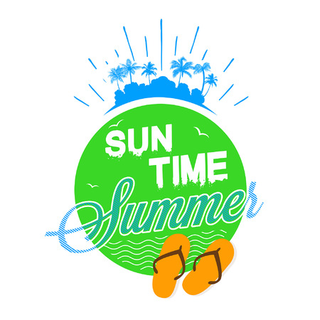 Illustration pour Sun time Summer - image libre de droit