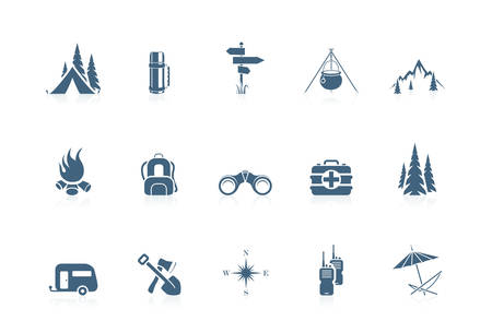 Camping icons | piccolo series