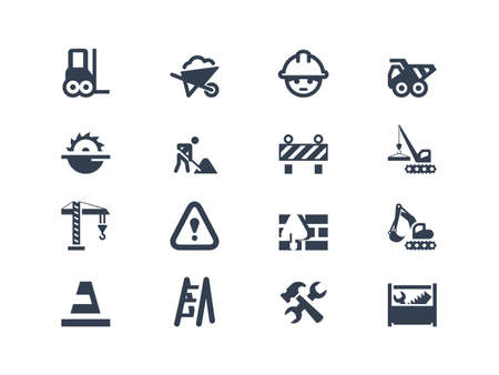 Illustration pour Construction icons - image libre de droit