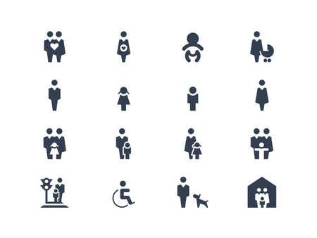 Ilustración de Family icons - Imagen libre de derechos