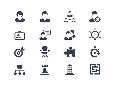 Illustration pour  Human resources  and strategy icons - image libre de droit