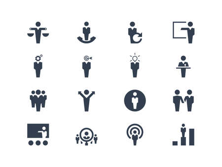 Illustration pour Human resources icons - image libre de droit