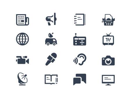Illustration pour Journalism and press icons - image libre de droit