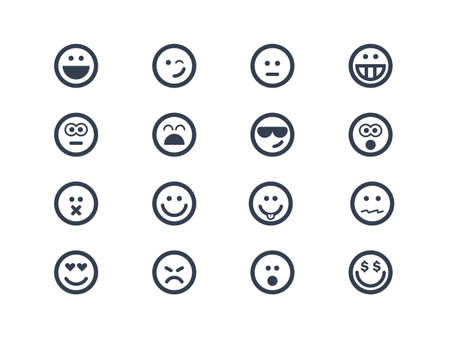 Illustration pour Smile icons - image libre de droit