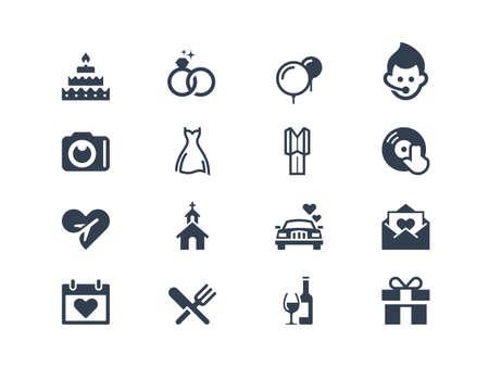 Photo pour Wedding icons - image libre de droit