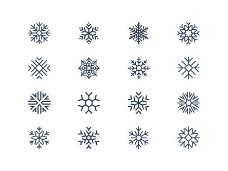 Illustration for Snowflake icons - Royalty Free Image