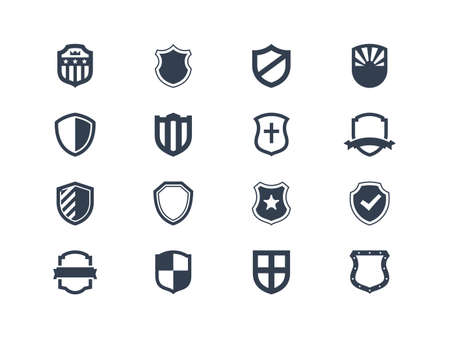 Illustration pour Shield icons - image libre de droit