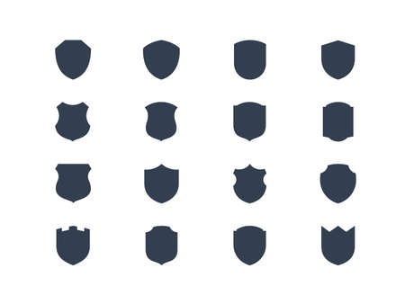 Illustration pour Shield shapes - image libre de droit