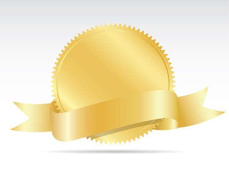 Illustration pour Blank gold label - image libre de droit