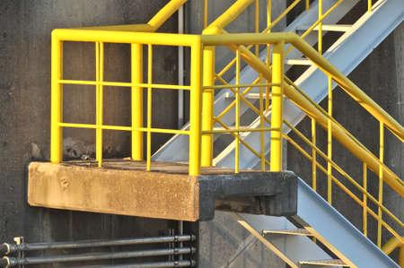 Foto de Railway emergency emergency staircase in flood gate - Imagen libre de derechos