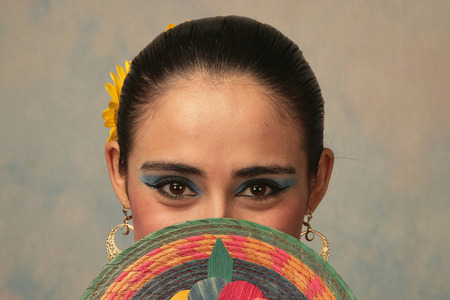 Photo for Traditional Mexican dancer from Nayarit - Royalty Free Image