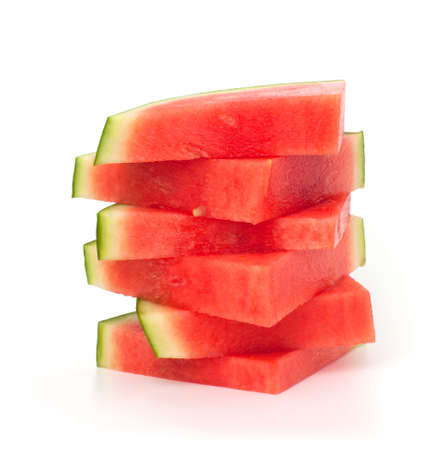 slices of water melon over white
