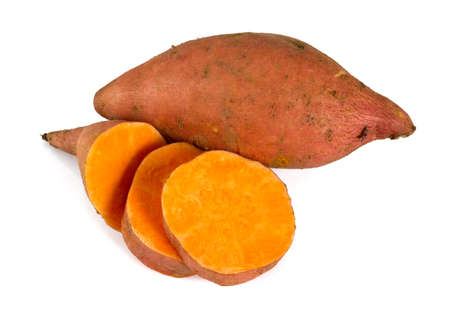Photo for sweet potato isolated on white - Royalty Free Image