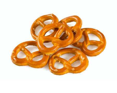 Foto de pretzels isolated on white background - Imagen libre de derechos