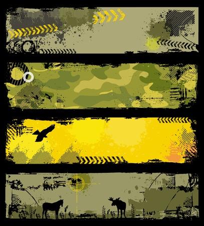 Illustration pour Grunge Military banners 2 - image libre de droit