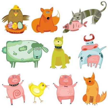 Cute animals- vector set.