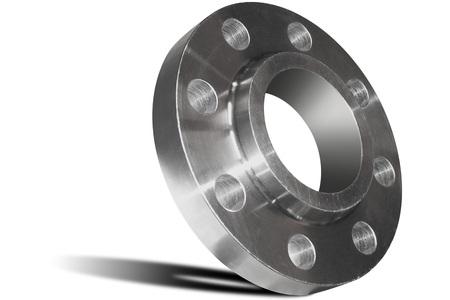 Photo pour Stainless steel welding flange - image libre de droit