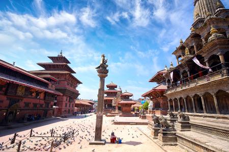 Photo pour Durbar Sqaure in Patan, Lalitpur city, Kathmandu, Nepal - image libre de droit